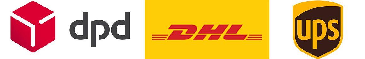 Versand per DHL, DPD, UPS